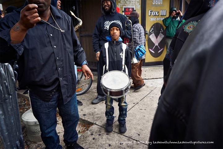 Drummer waiting.