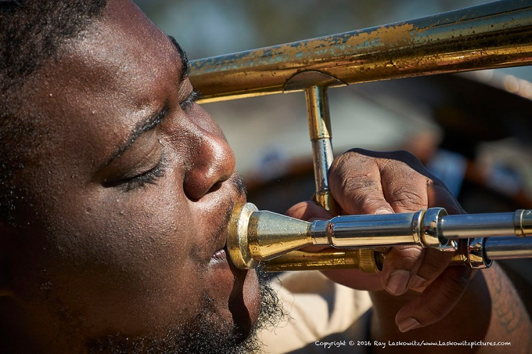 Blowing that trumpet.