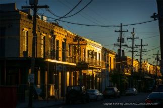 Magazine Street at dusk.