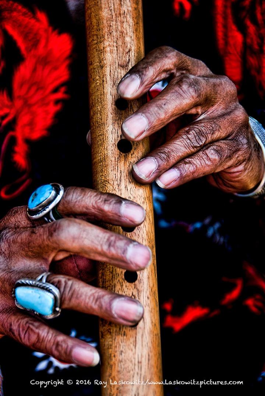 Flautist's hands.