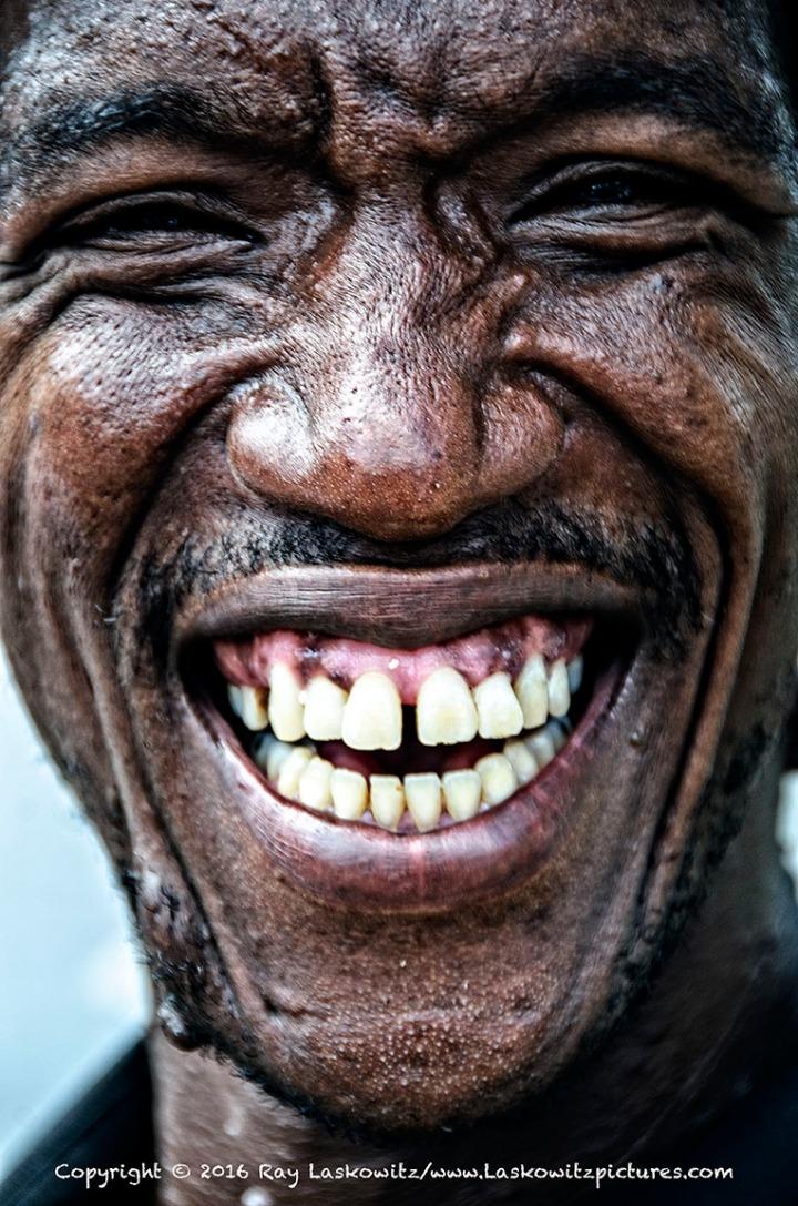 One giant smile.