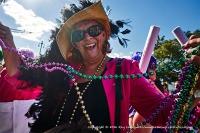 Mardi Gras joy.