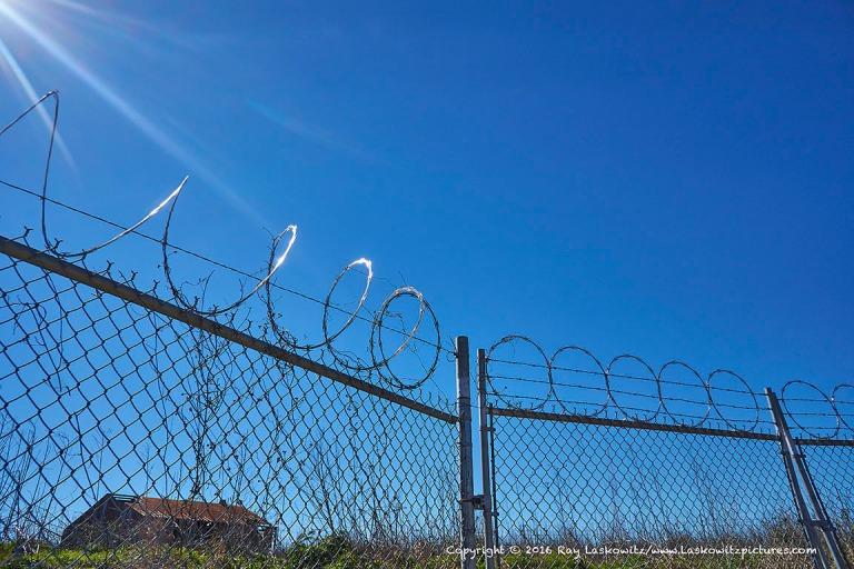Federal concertina wire.
