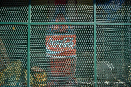 Coke behind bars.