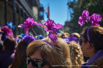 Flowers in their hair.