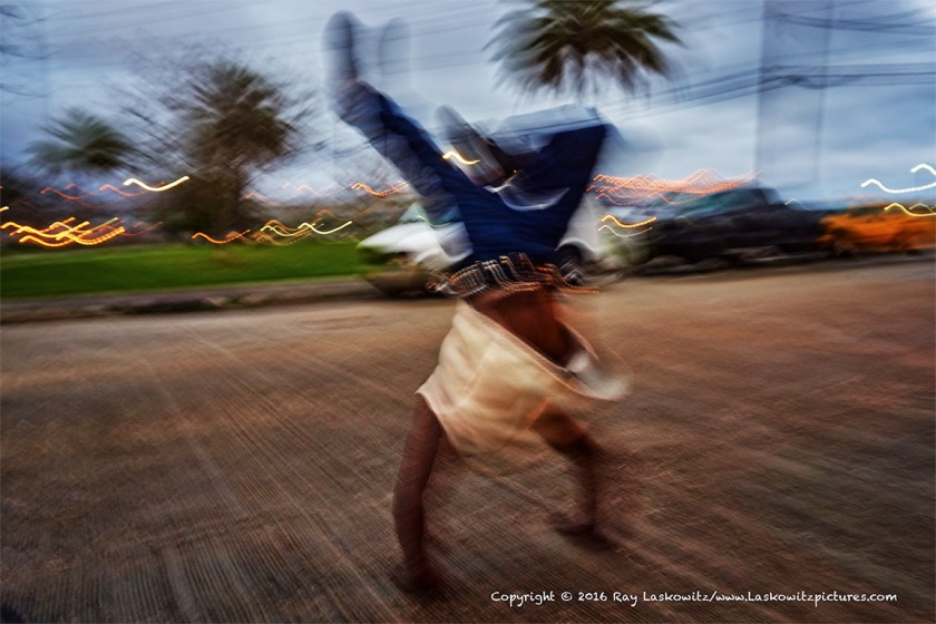 Street gymnastics.