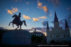 Jackson Square after the storm.