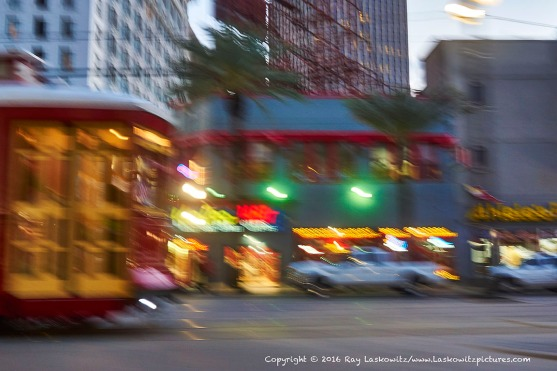 Red Streetcar on Canal Street.