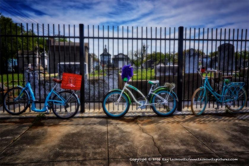 Bikes at Lafayette Cemetery No. 2