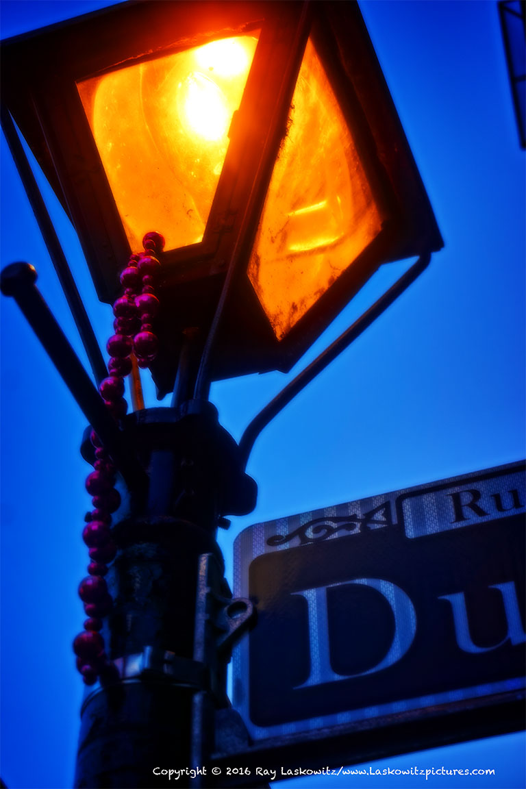 French Quarter street lights.