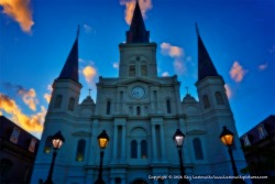 St. Louis Cathedral turning magical.