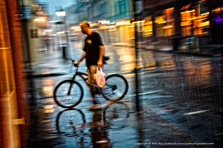 A little rain never stopped anybody.