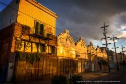 Golden light in Central City.