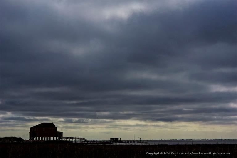 Stormy skies near Rigolets Pass.