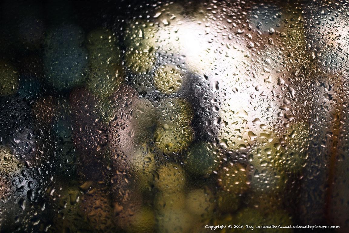 Condensation on the window.