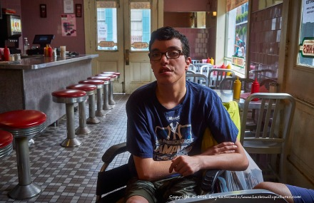 Mikey at the Clover Grill.