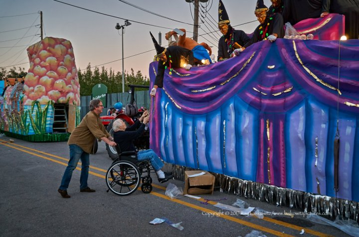 Father, son and the Krewe of Druids.