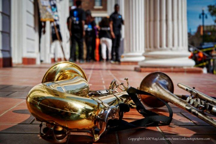 Sparkling brass.