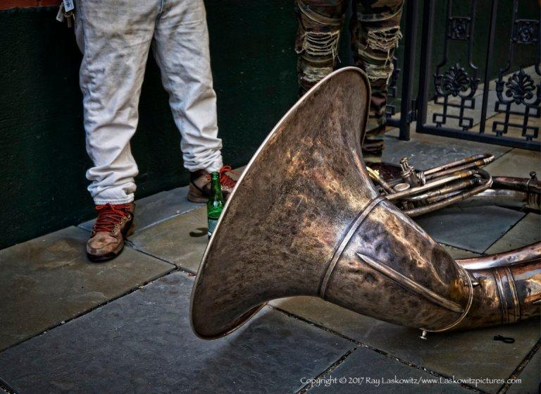 Tuba, a tool of the trade.