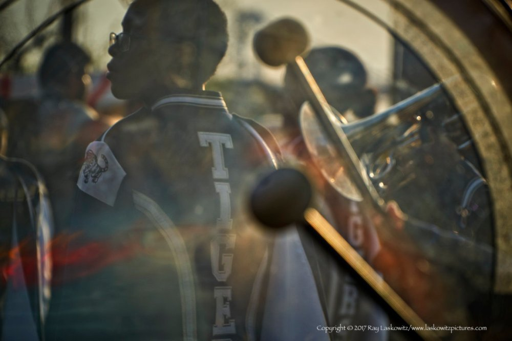 Light through the bass drum.