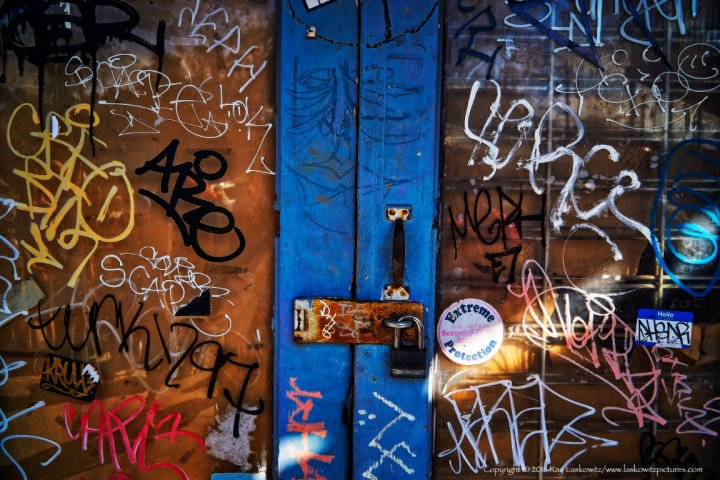 Door graffiti.