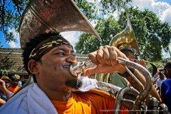 The tuba starts it.