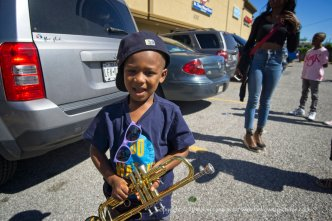 Little trumpet player.