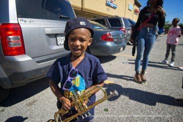 Little trumpet player.