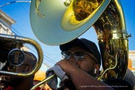 The tuba always starts it.